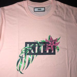 Kith In Bloom Classic Logo Tee Pink